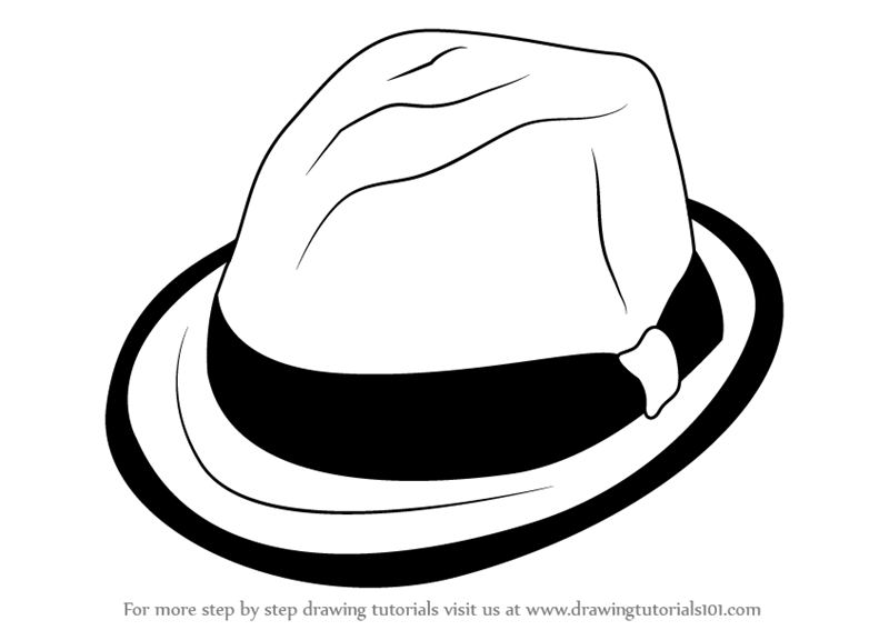 Learn How To Draw A Hat With Ribbon Hats Step By Step Drawing