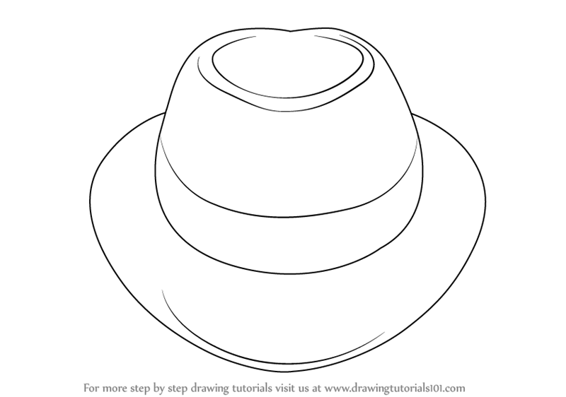 Learn How To Draw A Hat Hats Step By Step Drawing Tutorials