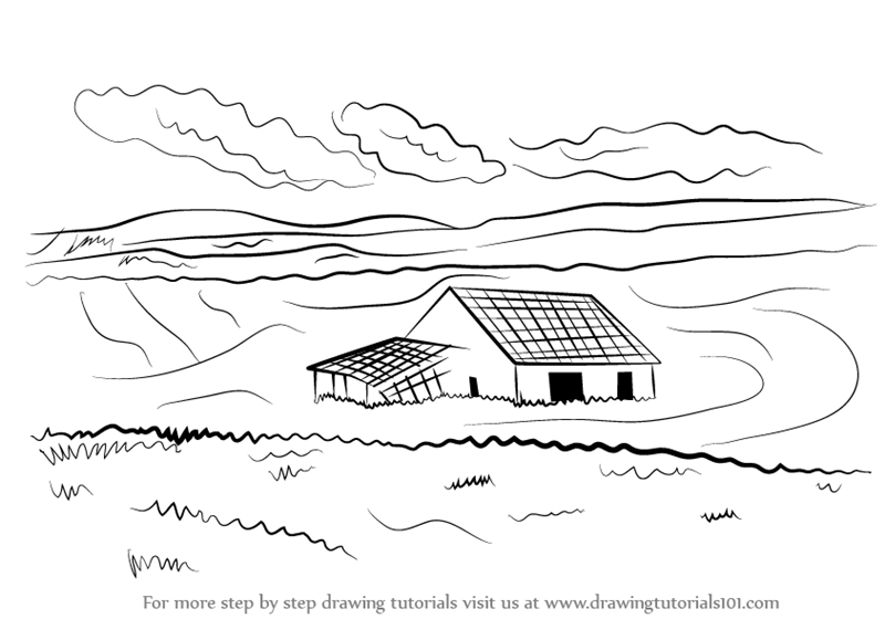 Learn How To Draw A Barn Houses Step By Drawing Tutorials