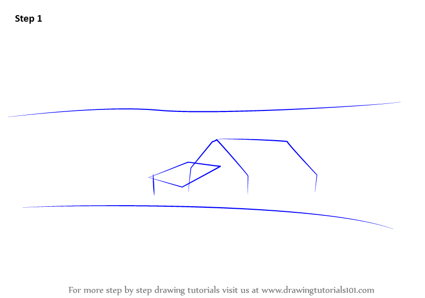 How To Draw A Barn Step 1 First Commence The Tutorial By Making Triangle Rectangle