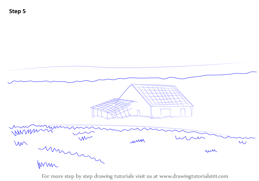 Learn How To Draw A Barn Houses Step By Step Drawing