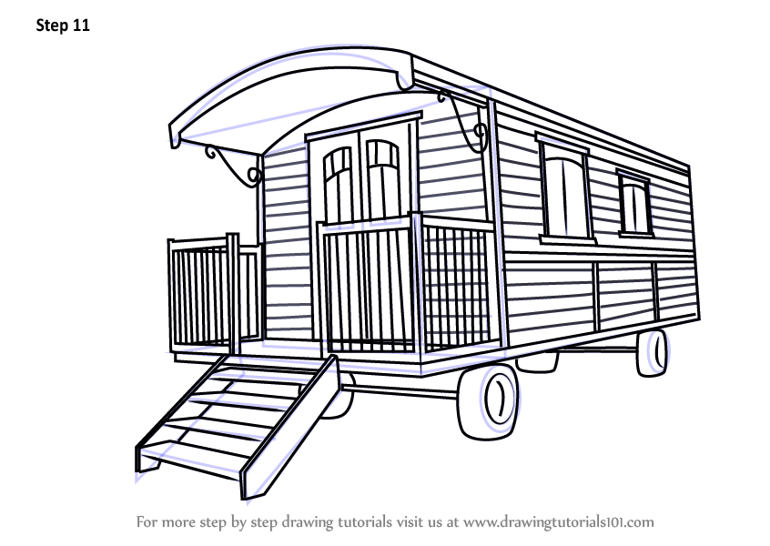 Learn How to Draw a Caravan House (Houses) Step by Step ...