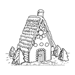 How to Draw Gingerbread House