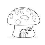 How to Draw a Mushroom House