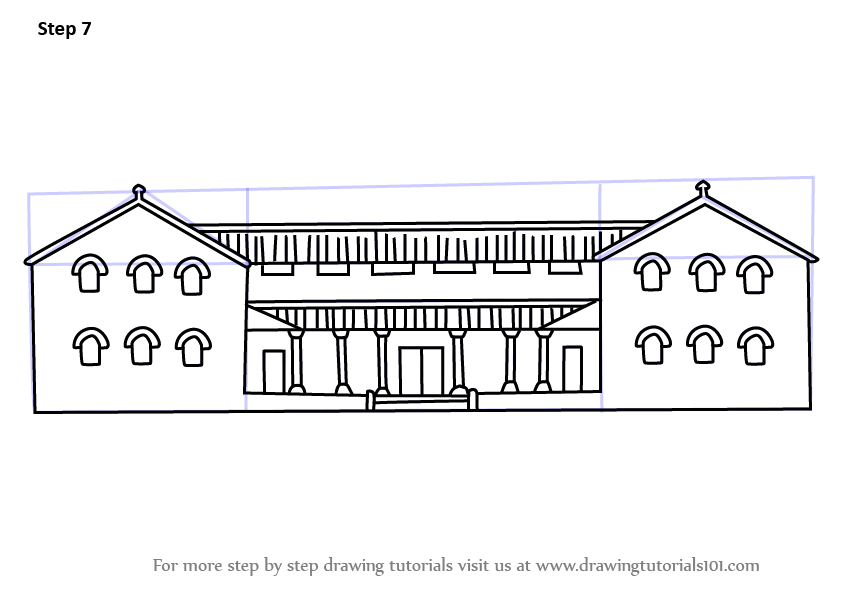 Learn How To Draw A Roman House Houses Step By Step