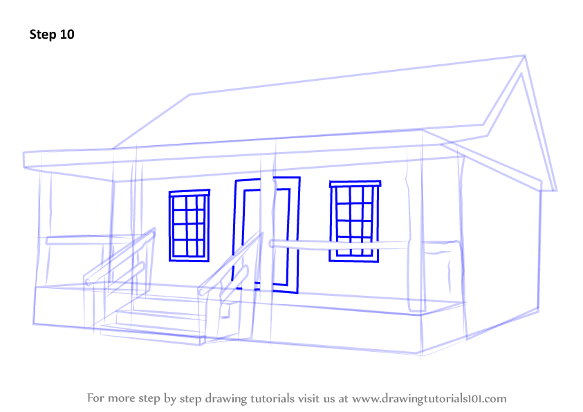 how to draw an open window
