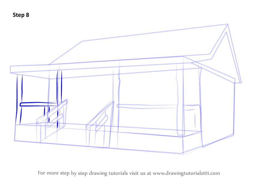 how to draw an isometric cabine