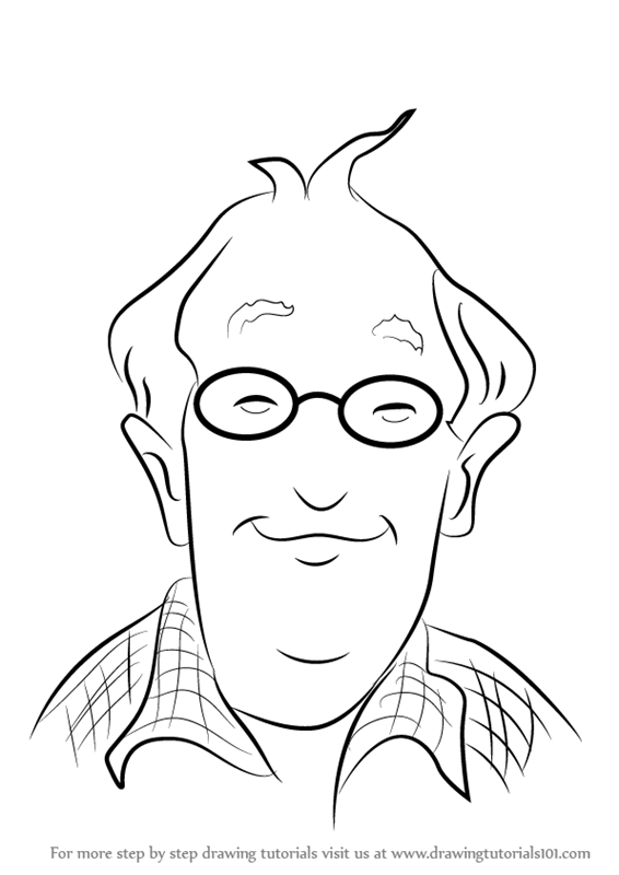 junie b jones coloring pages printable - step by step how to draw grampa frank miller from junie b