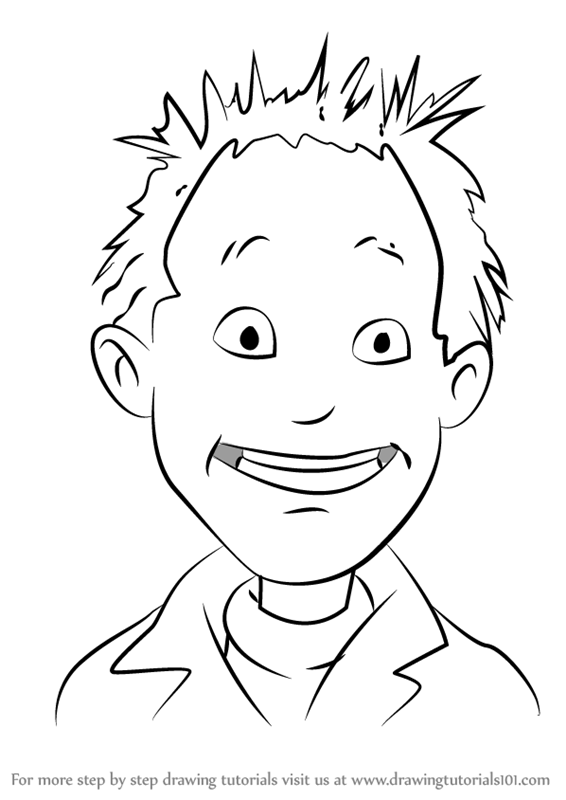 junie b coloring pages - step by step how to draw lennie from junie b jones