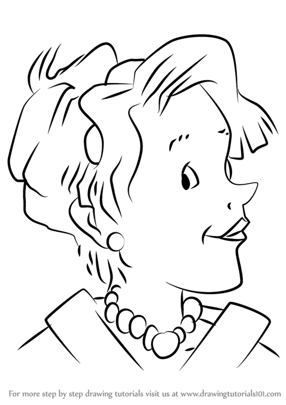 Learn How to Draw Mother from Junie B Jones Junie B Jones Step