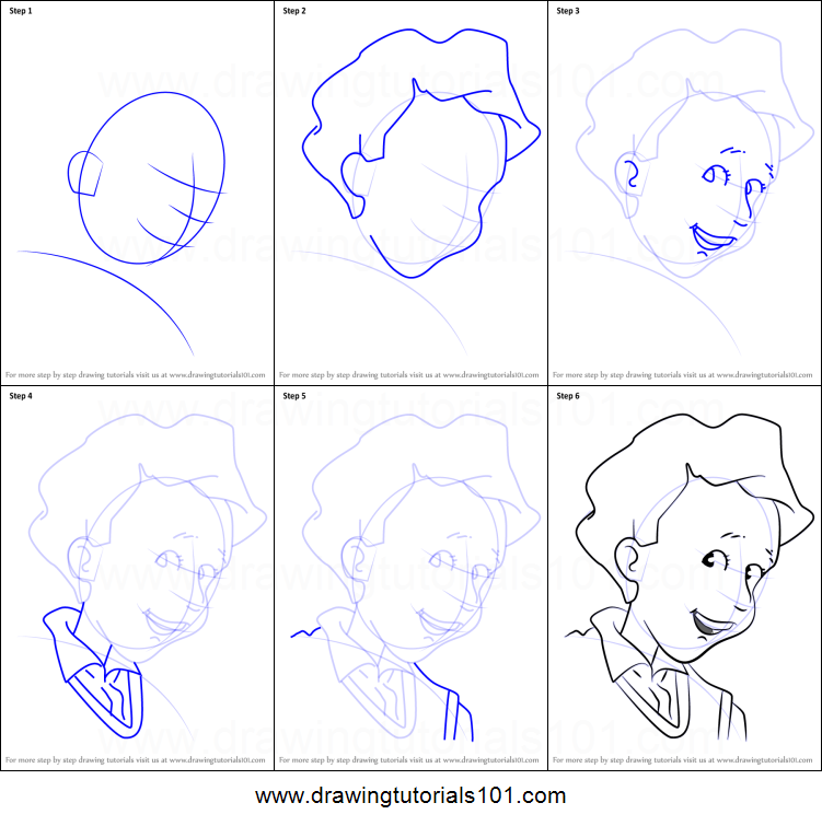 coloring pages junie b jones - how to draw sheldon from junie b jones printable step by