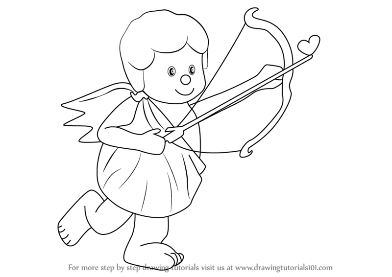 learn how to draw a cupid with bow love step by step drawing tutorials