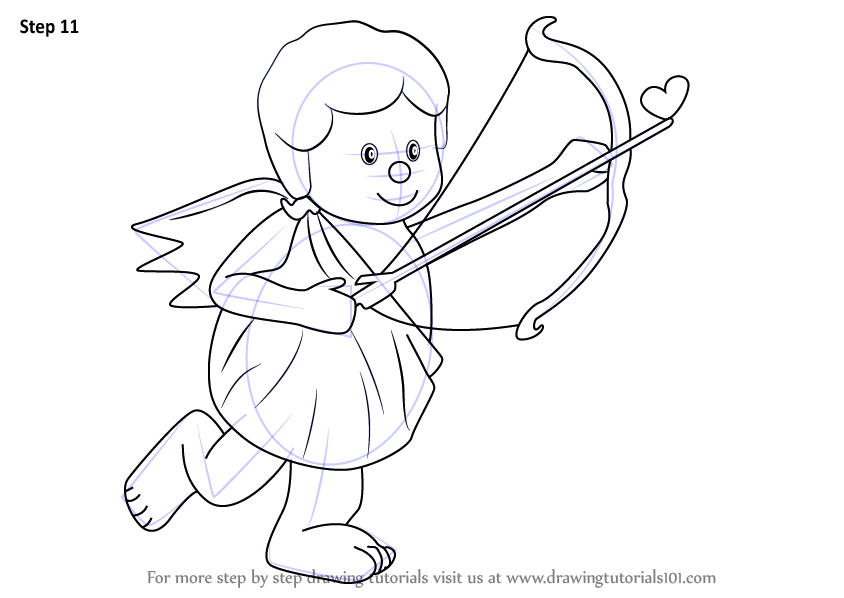 Learn How To Draw A Cupid With Bow Love Step By Step