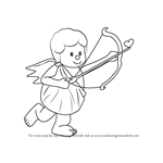 How to Draw a Cupid with Bow