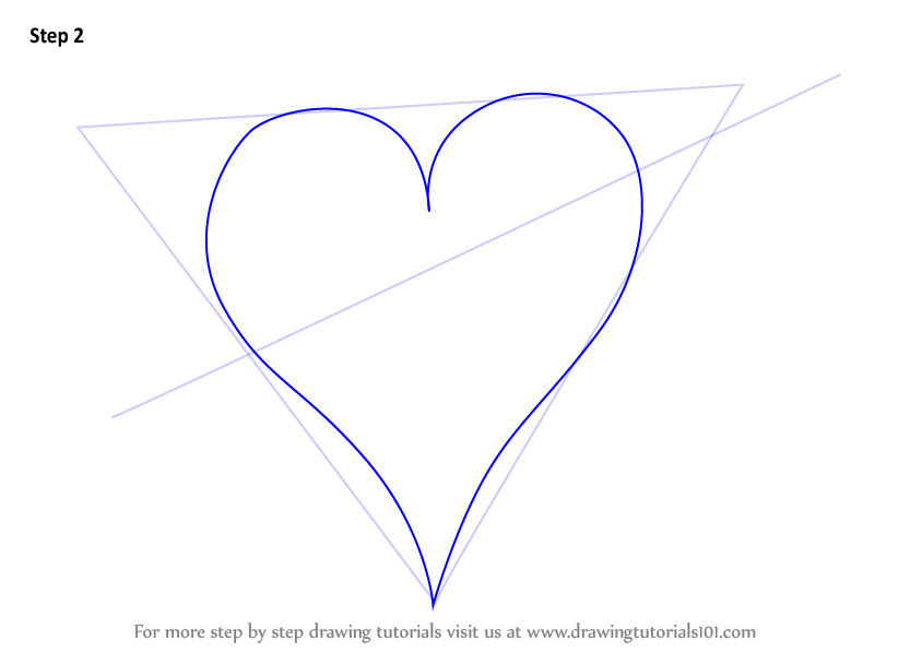 Learn How To Draw Heart With Arrow Love Step By Step Drawing