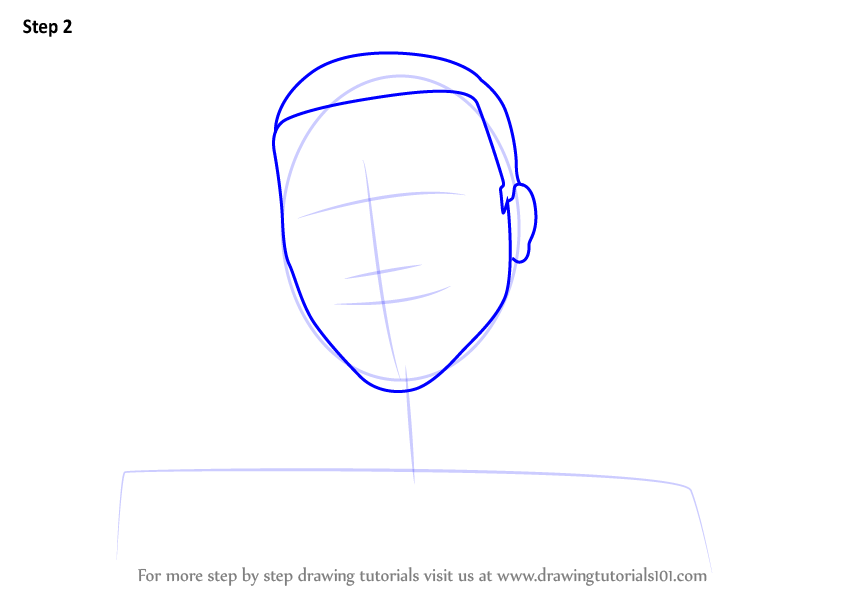 Step By Step How To Draw An Anonymous Hacker Mask