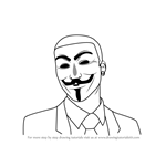 How to Draw an Anonymous Hacker Mask