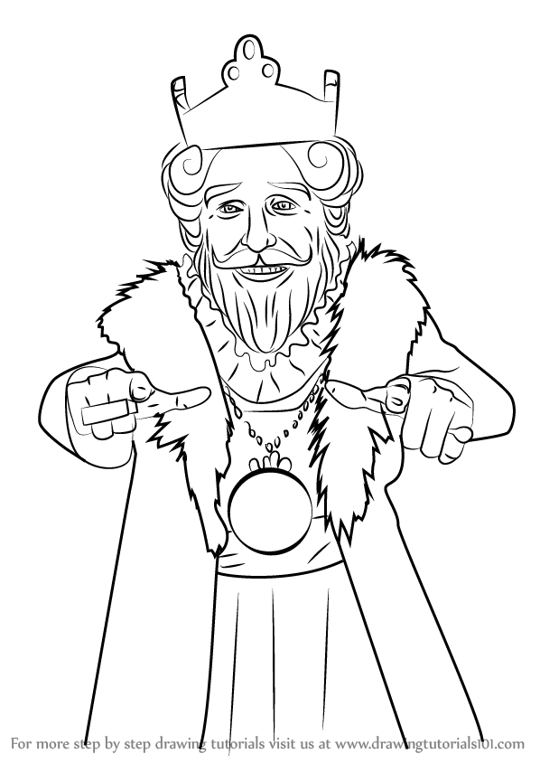 Learn How To Draw Burger King Mascot Mascots Step By Drawing Tutorials