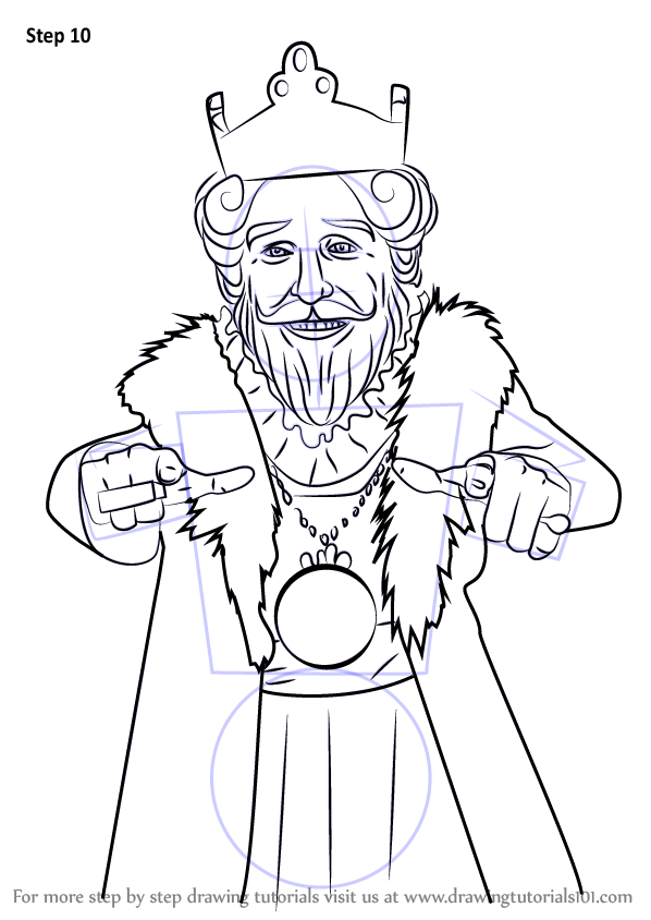 Learn How To Draw Burger King Mascot Mascots Step By
