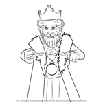 How to Draw Burger King Mascot