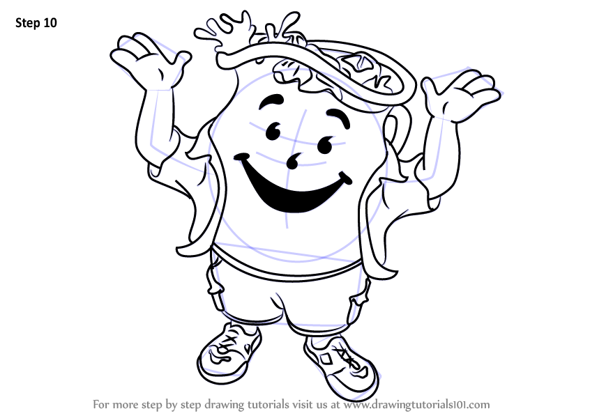kool aid man coloring pages learn how to draw kool aid man mascots step by step