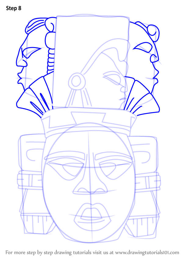 Harry Green Chevy >> Learn How to Draw Indian Mayan Aztec Mask (Masks) Step by ...
