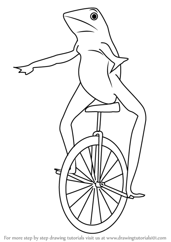 Learn How to Draw dat Boi (Memes) Step by Step : Drawing