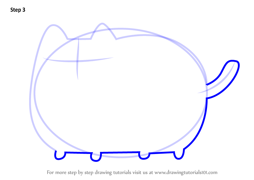 Learn How To Draw Pusheen The Cat (Memes) Step By Step