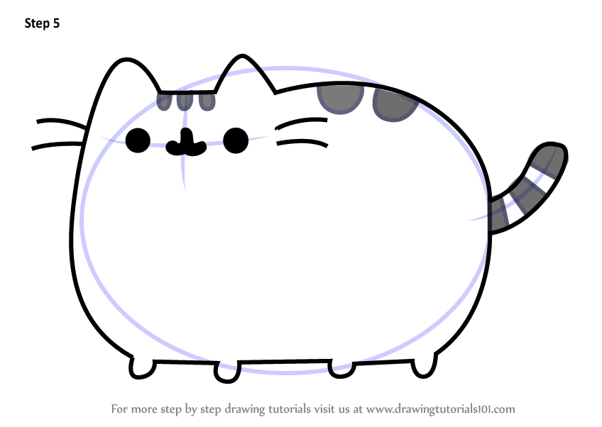 Learn How to Draw Pusheen the Cat Memes Step by Step