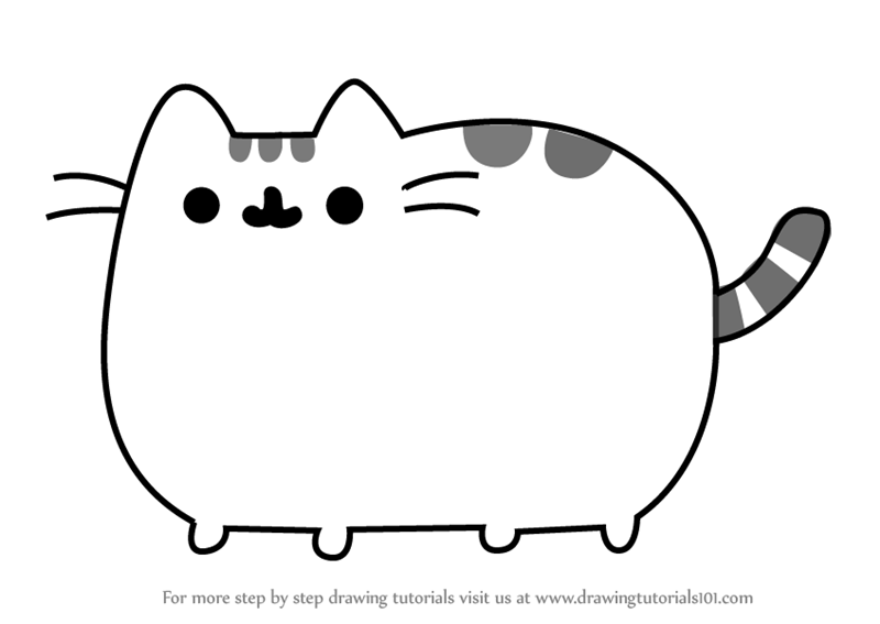 Learn How To Draw Pusheen The Cat Memes Step By Step Drawing