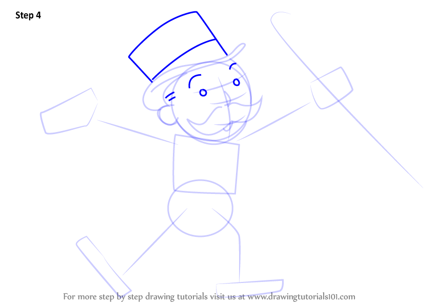 Learn How To Draw Rich Uncle Pennybags From Monopoly