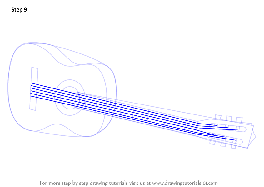 how to draw on a guitar