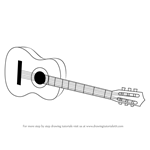 How to Draw a Acoustic Guitar on floor
