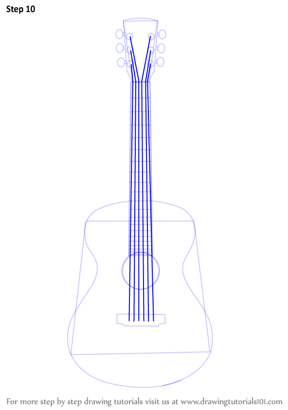 Learn How to Draw an Acoustic Guitar (Musical Instruments ...
