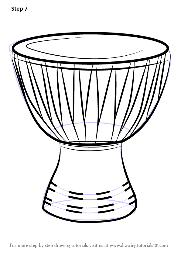 Learn How to Draw an African Drum