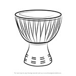 How to Draw an African Drum