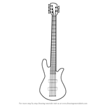 How to Draw a Bass Guitar
