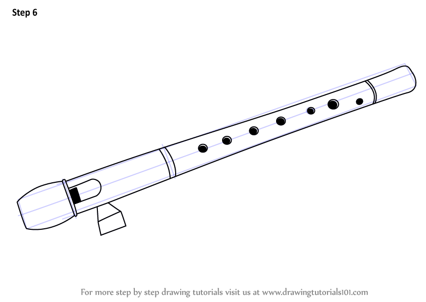How to draw a flute: a lesson for beginners