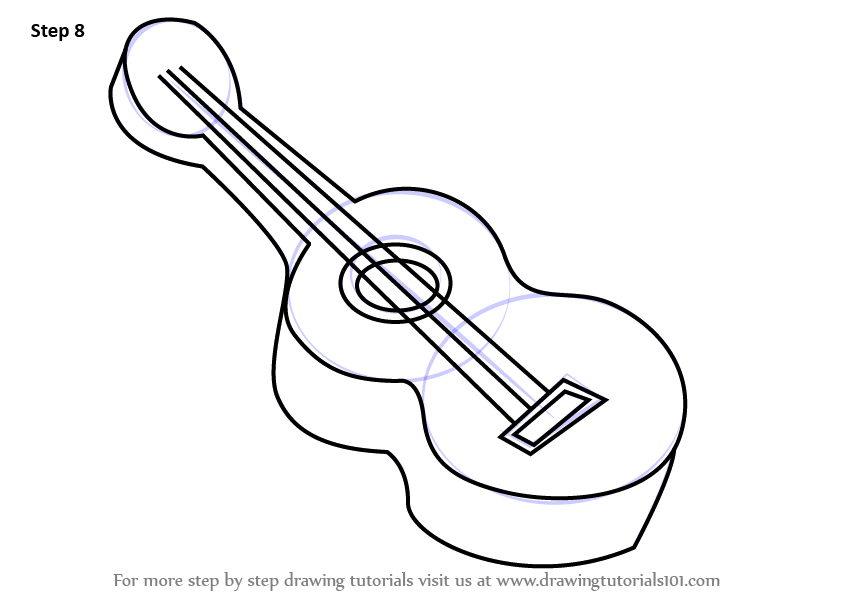 learn how to draw guitar for kids musical instruments step by step drawing tutorials - Small Drawings For Kids