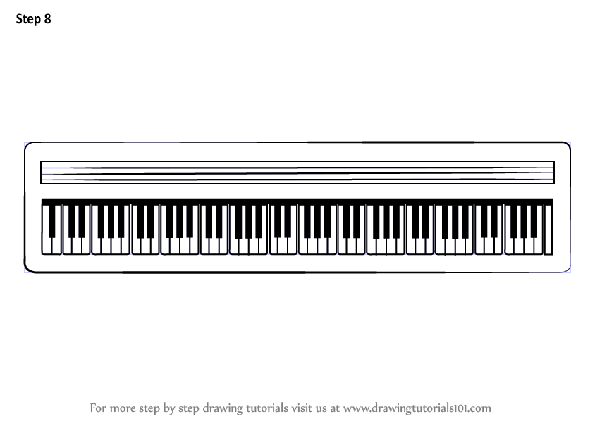 Keyboard drawing for kids