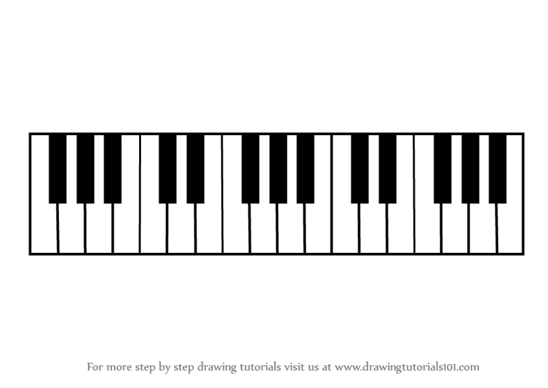 step by step how to draw piano keys   drawingtutorials101 com