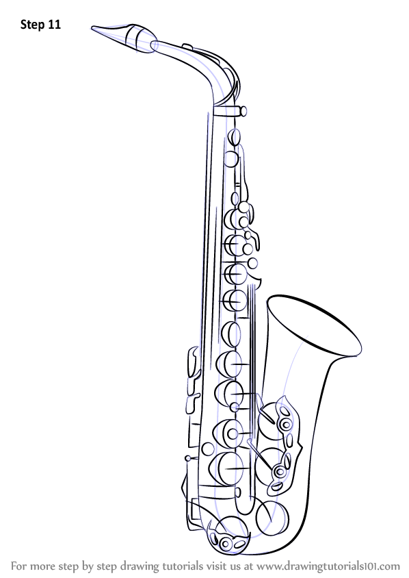 Learn How to Draw a Saxophone Musical
