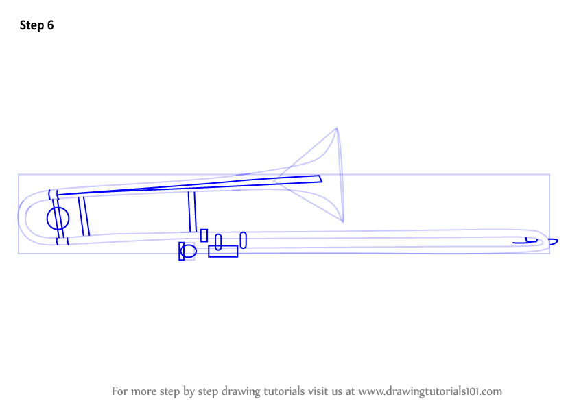 Learn How to Draw Trombone (Musical Instruments) Step by