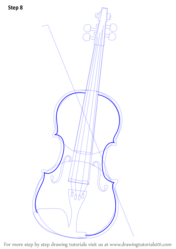 Learn How To Draw A Violin Musical Instruments Step By Step