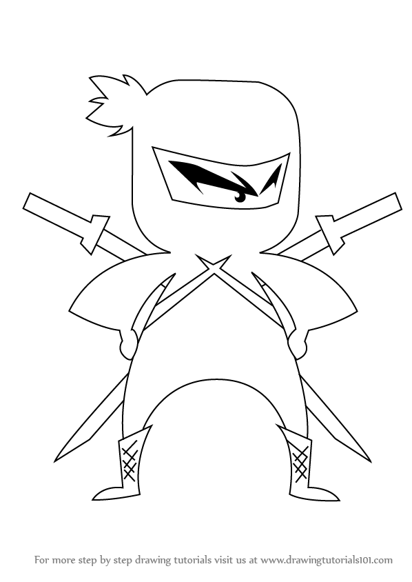 Learn how to draw ninja for kids ninjas step by step drawing tutorials