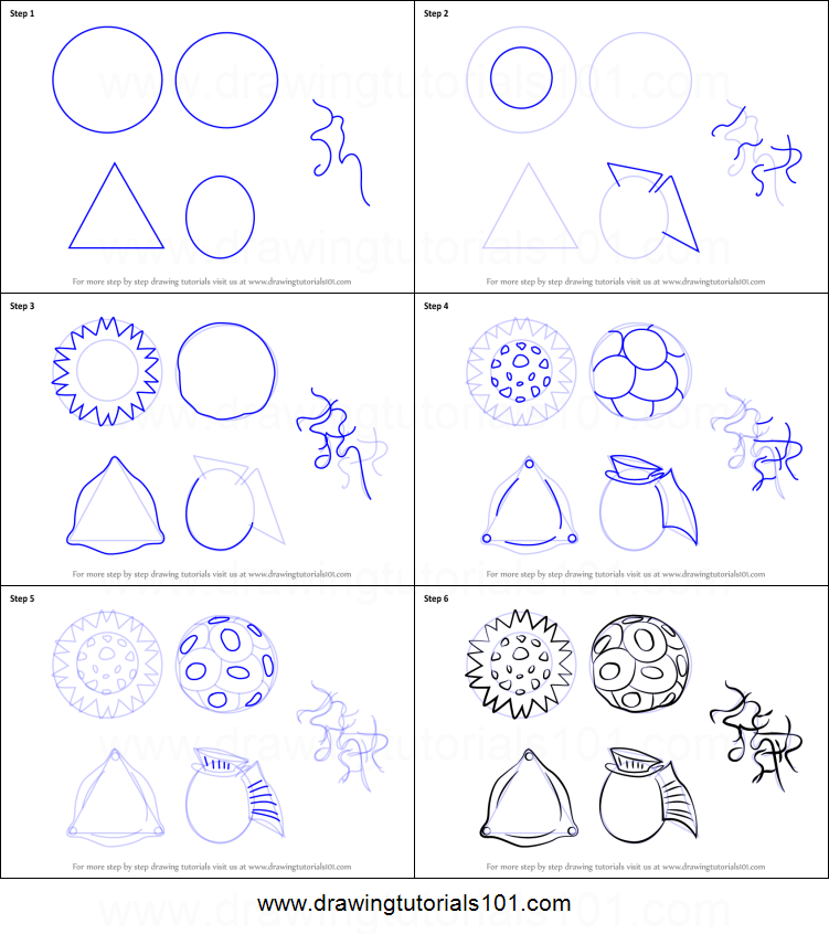 How to Draw Phytoplankton printable step by step drawing ...