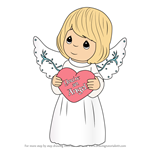 How to Draw You're An Angel from Precious Moments