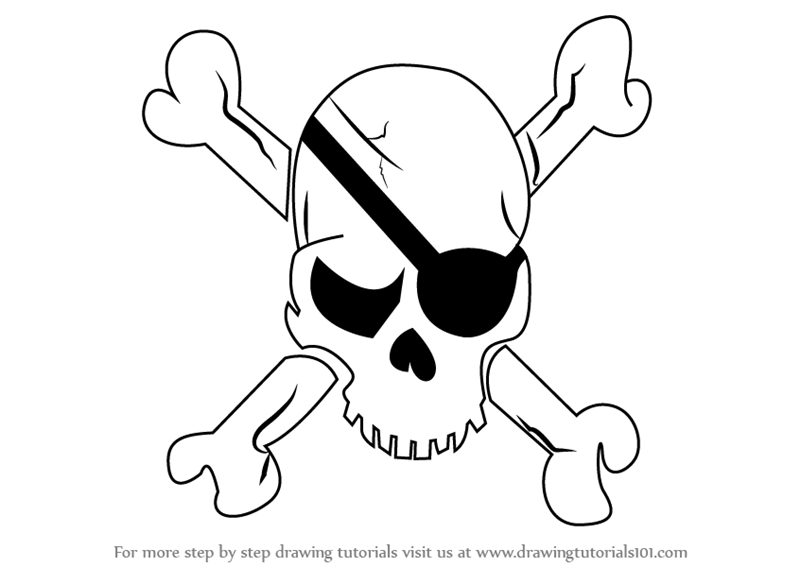 Learn How To Draw A Pirate Skull (Skulls) Step By Step