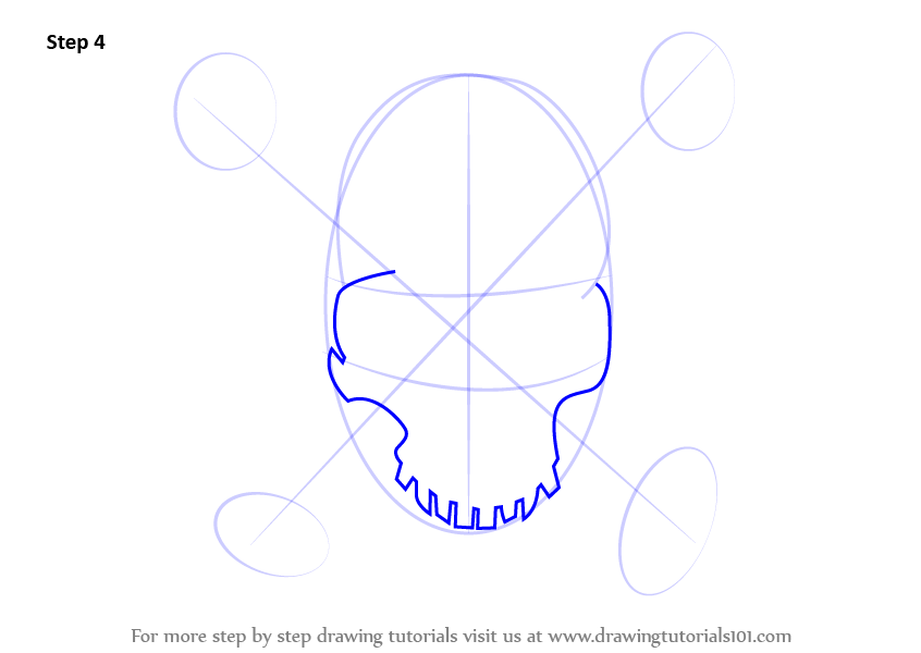 Learn How To Draw A Pirate Skull Skulls Step By Step Drawing Tutorials
