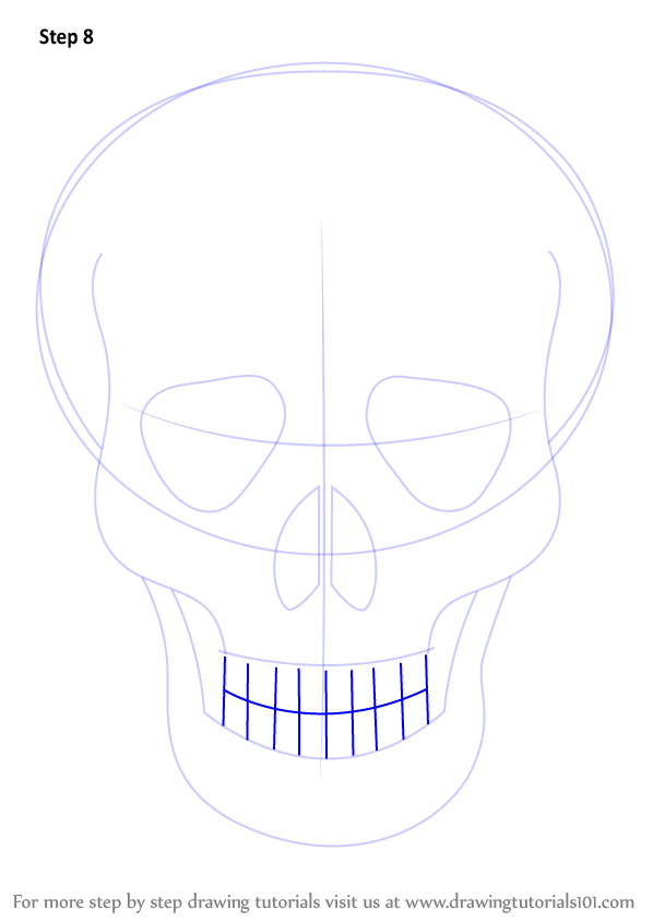 how to draw teeth easy